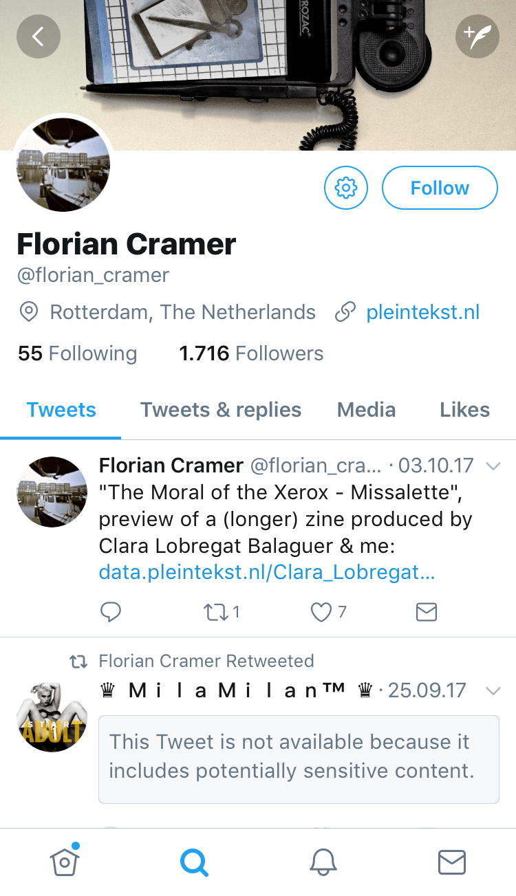 Florian Cramer is part of the conference program of transmediale 2018 face value.