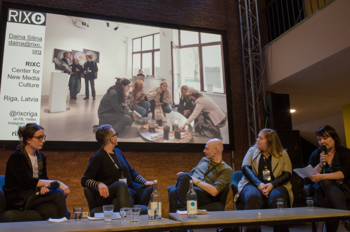 "Impression of the panel ""Launch of EMAP: The European Media Art Platform"""