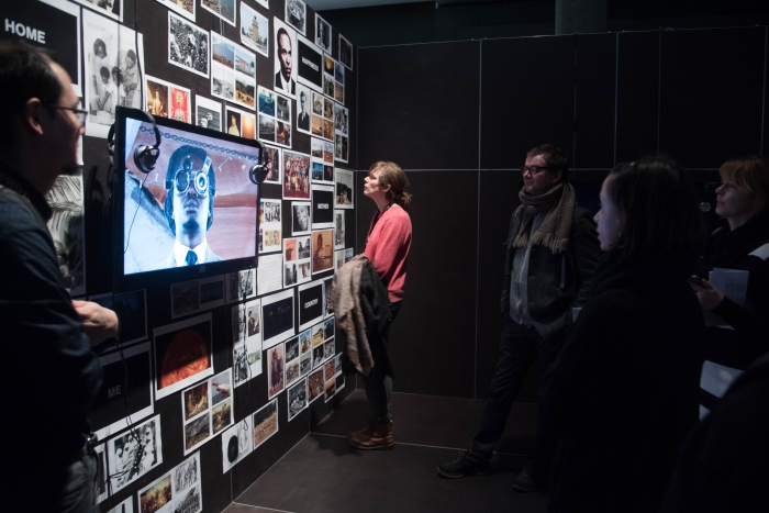 "Guided tour through the exhibition ""Territories of Complicity"" at transmediale 2018 face value"